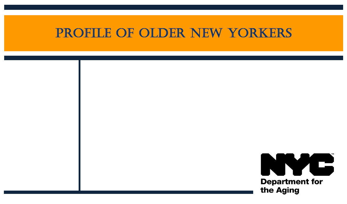 Report Cover of Profile of Older New Yorkers