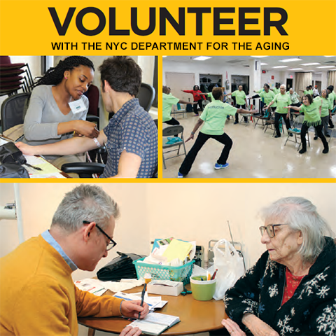 Report Cover of Volunteer with the NYC Dept for the Aging
