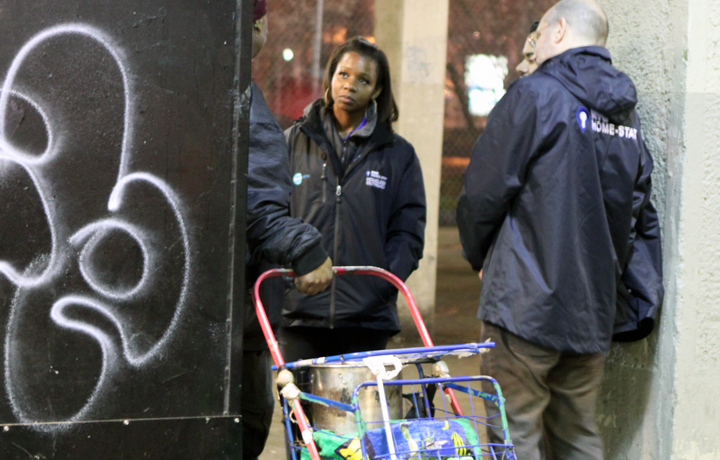 A Department of Homeless Services HOME-STAT team in the streets of New York