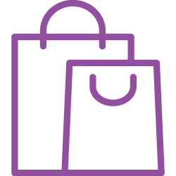 icon of shopping bags