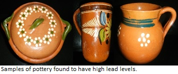 pottery with lead