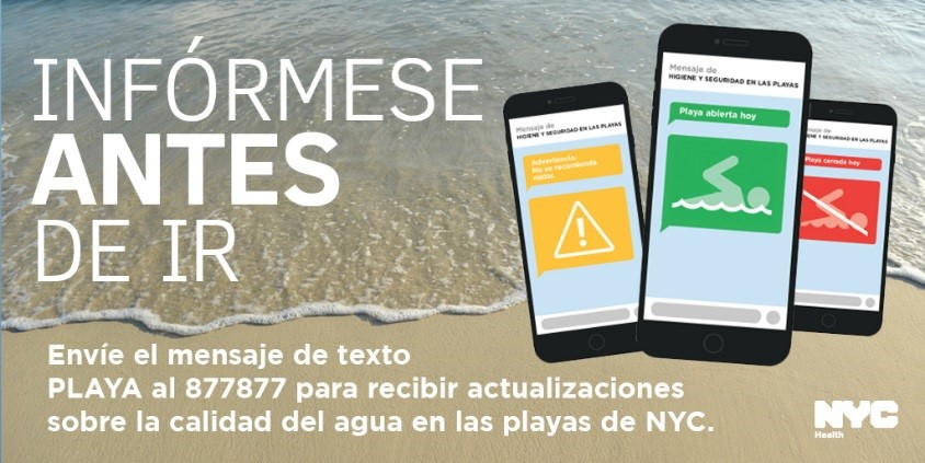 Know Before You Go Beach Water Quality Alerts in Spanish