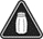 A black warning sign with a white salt shaker in the middle.