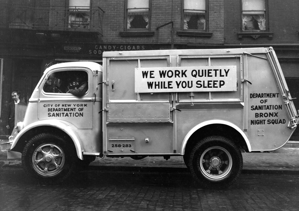 DSNY archival photo: Department of Sanitation collection truck