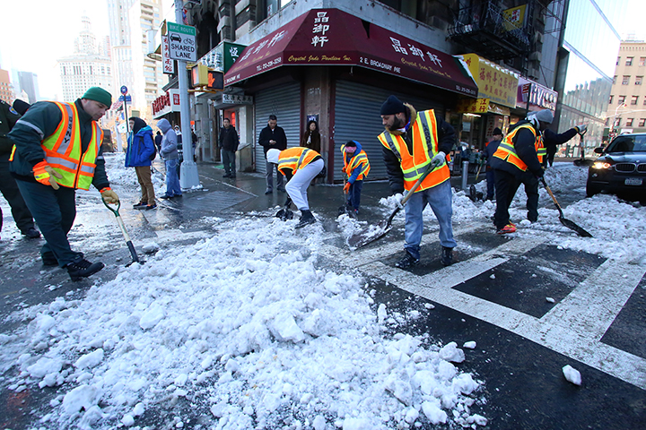 Image result for snow labor nyc dsny