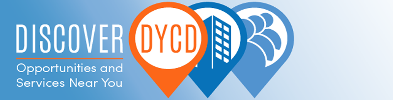 banner that reads Discover DYCD Opportunities and Services Near You