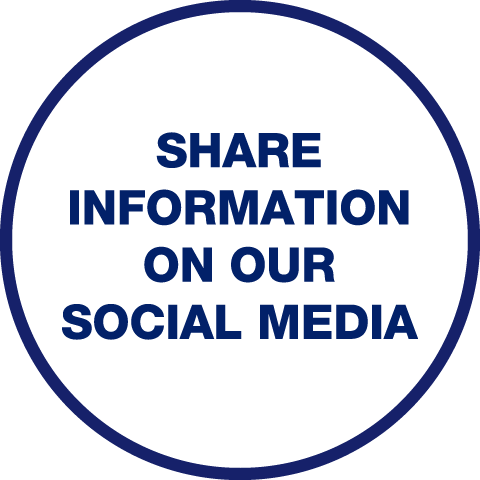 Share Information On Our Social Media logo