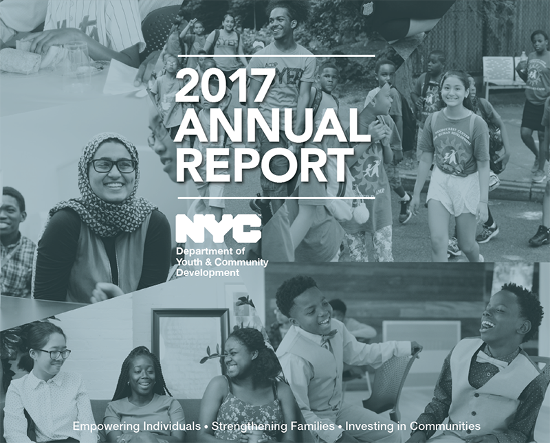 DYCD 2017 Annual Report cover page