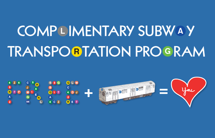 logo reading Complimentary Subway Transportation Program