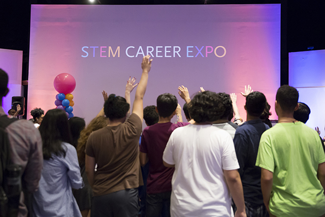 Students at the 2018 STEM Expo.