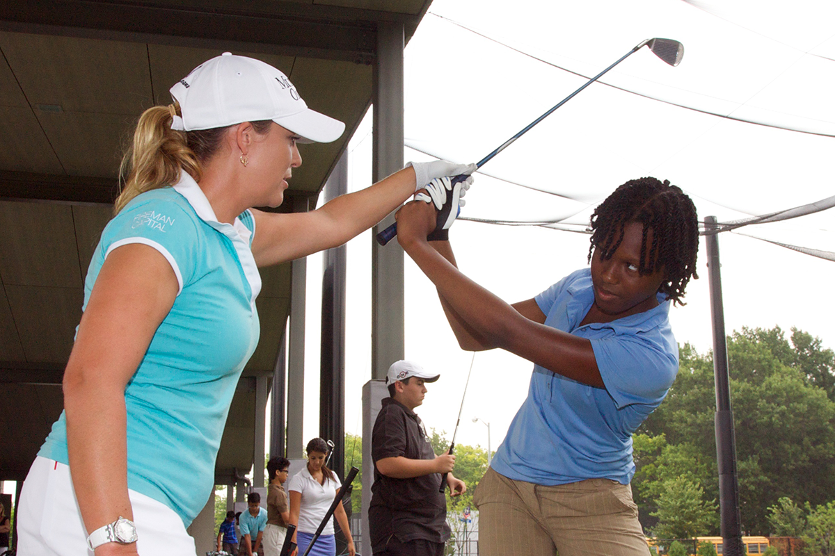 Golf with the Brooklyn and Queens Junior Golf Center