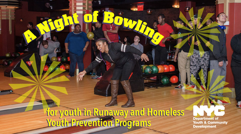 Youth from DYCD RHY programs bowling