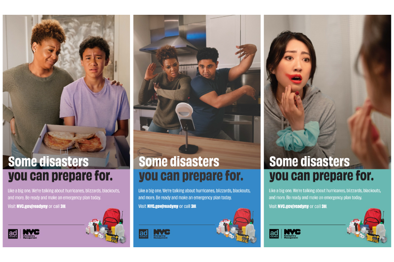 Emergency preparedness advertisement brought to you by NYC Emergency Management and the Ad Council.
