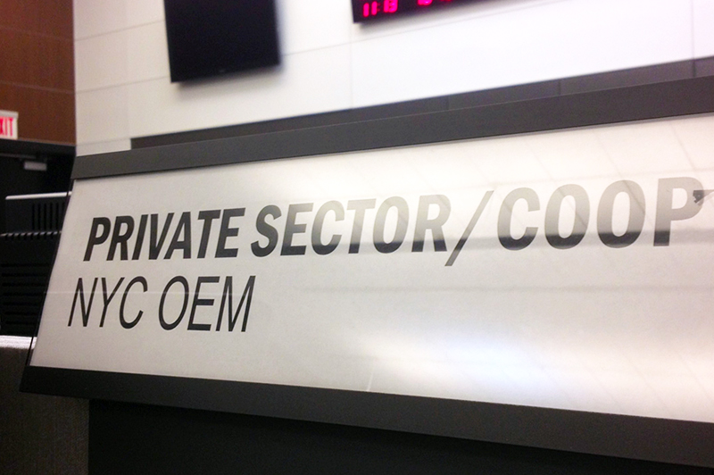 Private Sector name plate
