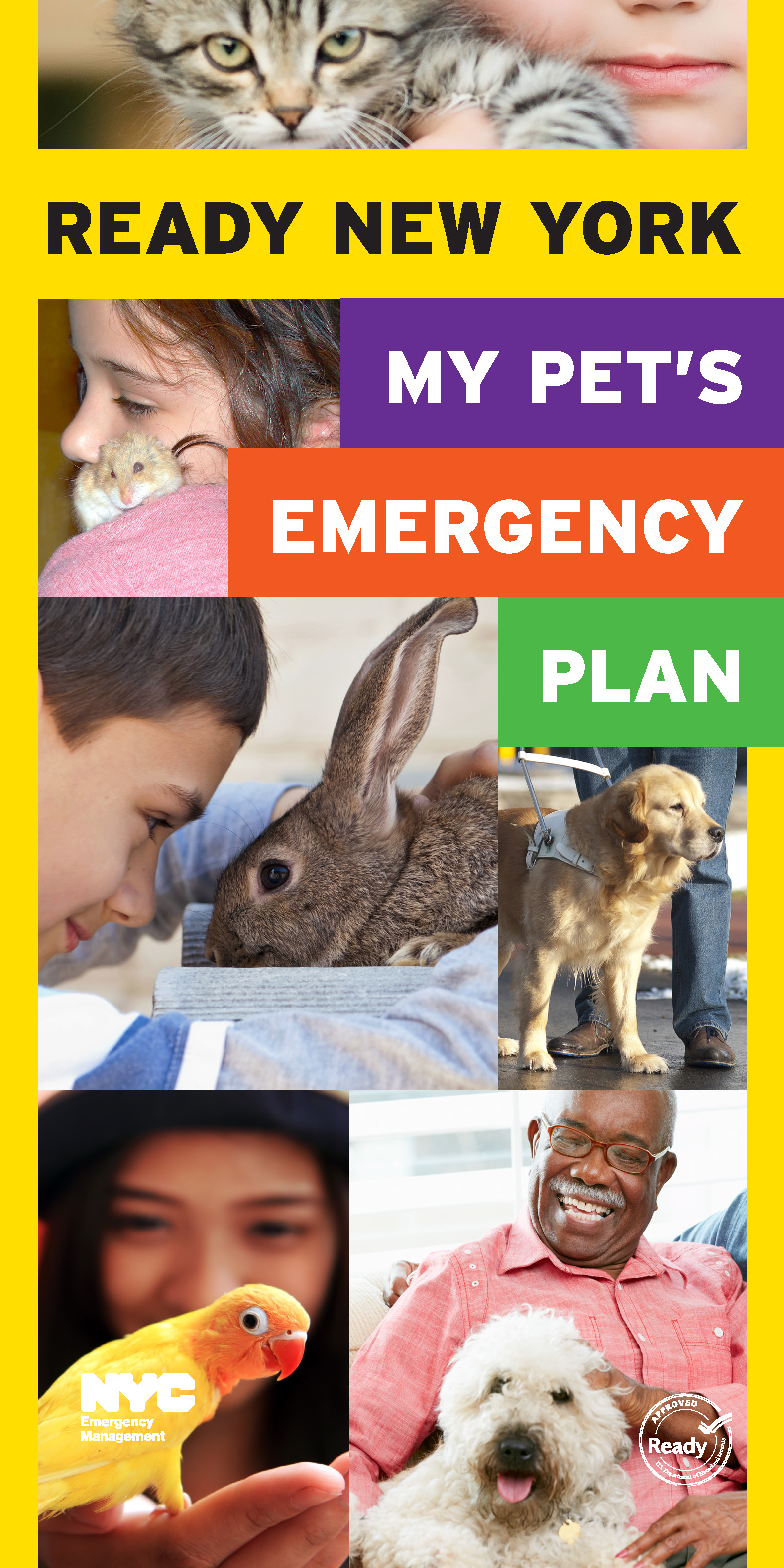 My Pet's Emergency Plan cover in English