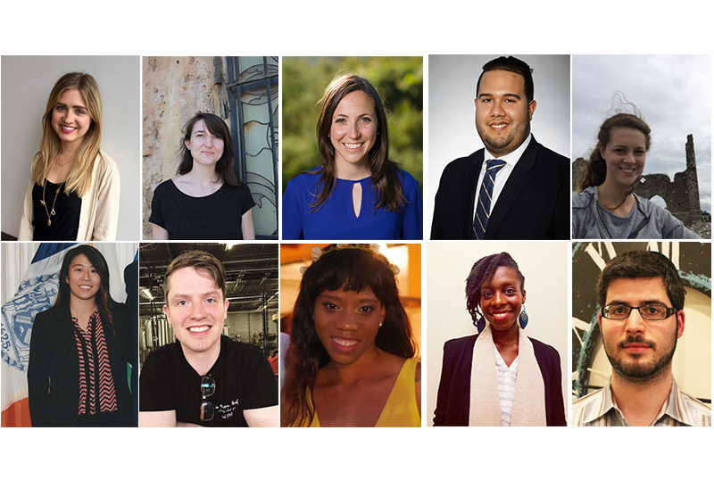 Headshots of the 2017-2018 class of John D. Solomon Fellows
