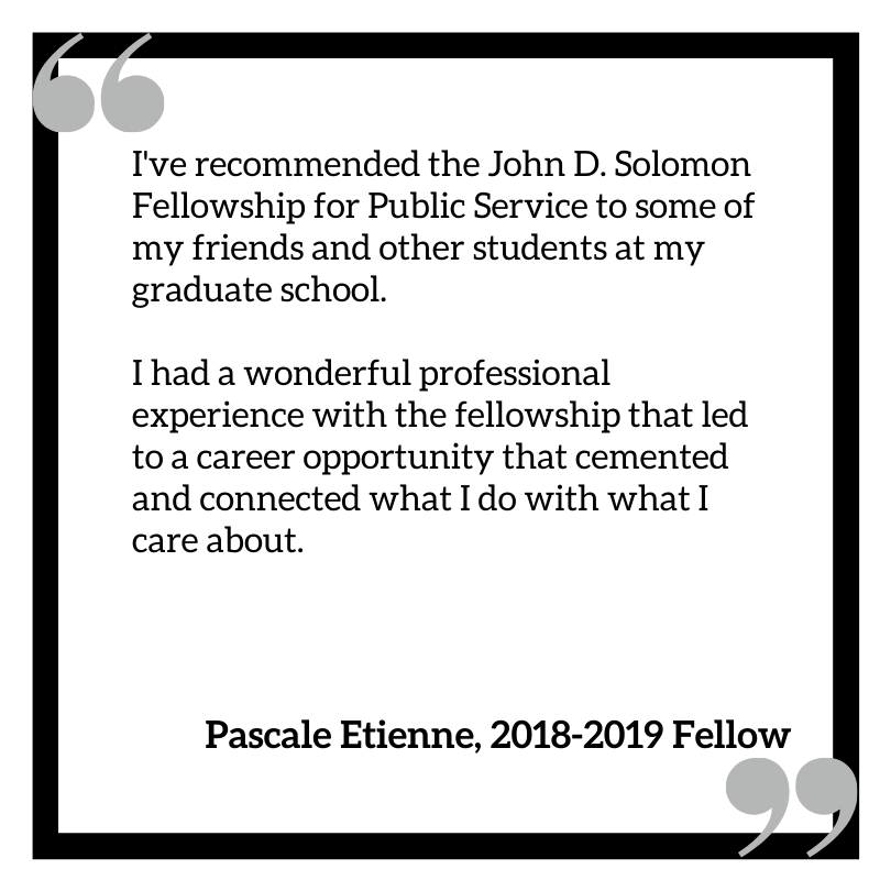 Solomon Fellowship quote from alumna
