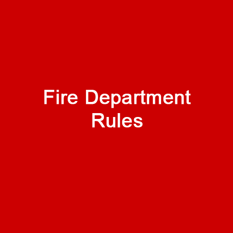 Fire Department Rules