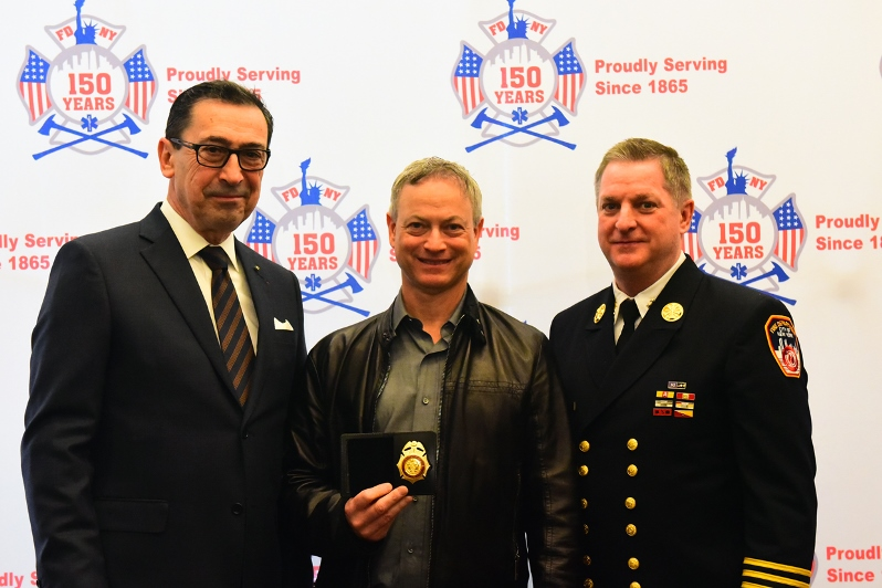 FDNY Commissioner Daniel A. Nigro Swears In Actor Gary Sinise as Honorary Battalion Chief