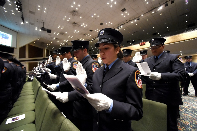 FDNY Holds Graduation Ceremony For 118 EMTs