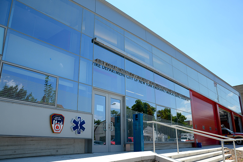 FDNY Holds Ribbon Cutting ceremony for EMS Station 50 in Queens