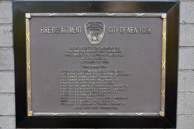 FDNY Commemorates 50th Anniversary of the 23rd Street Fire ...