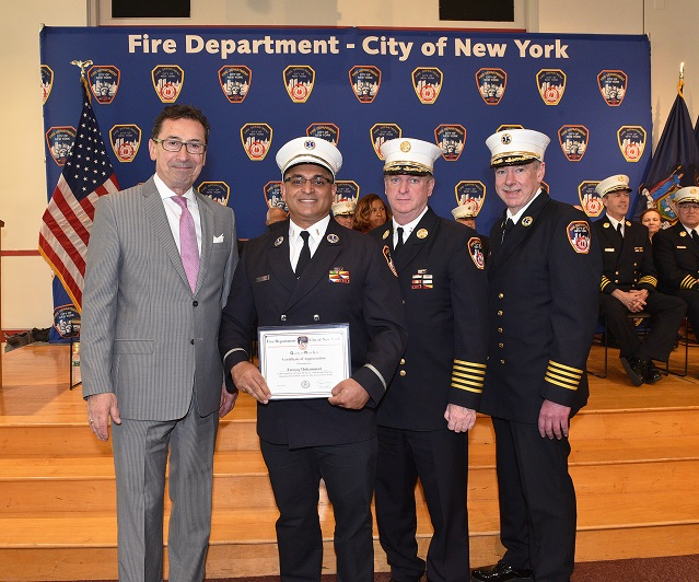 Fire Commissioner Recognizes FDNY Members for Their Continued Service