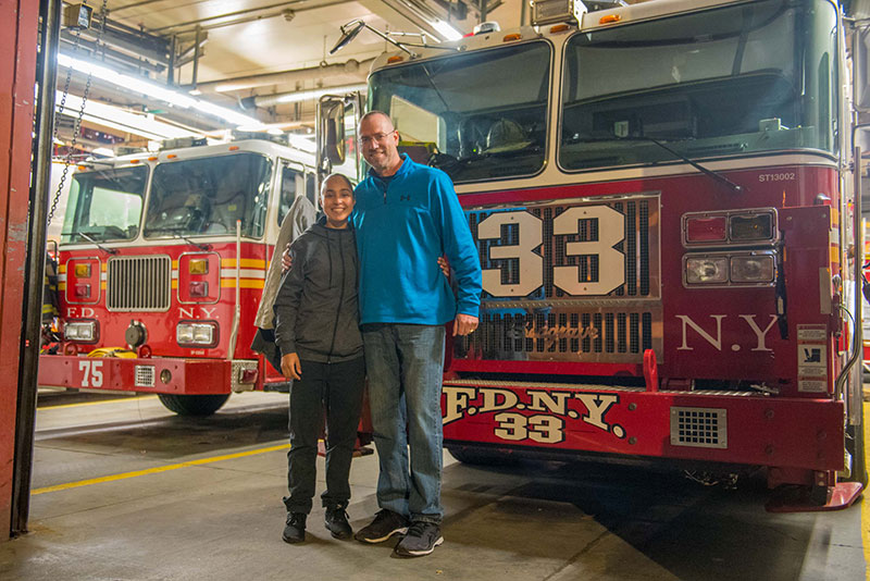 FDNY Lt. reunited with young woman he saved