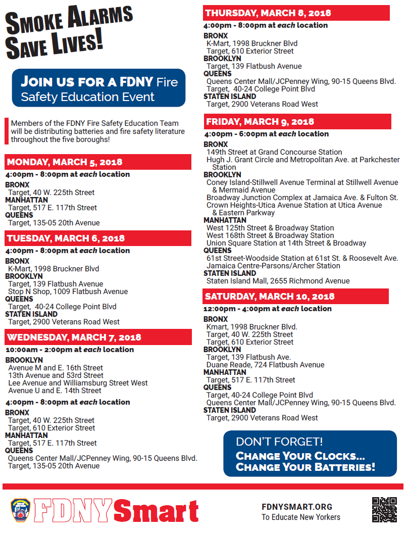 FDNY Fire Safety Education events