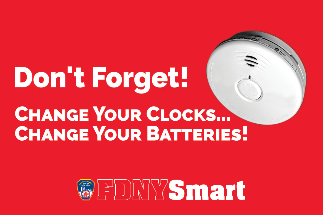 Fdny Urges New Yorkers To Change Their Batteries In Smoke And