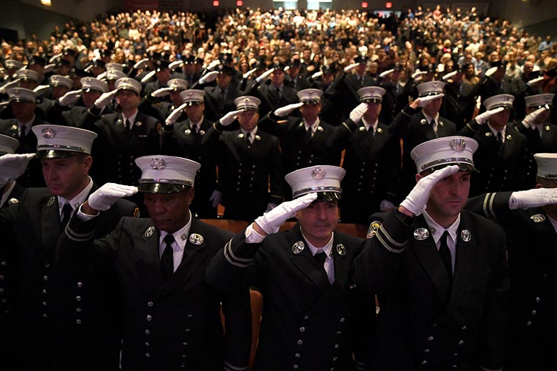 FDNY Promotion Ceremony for 80 Fire Officers
