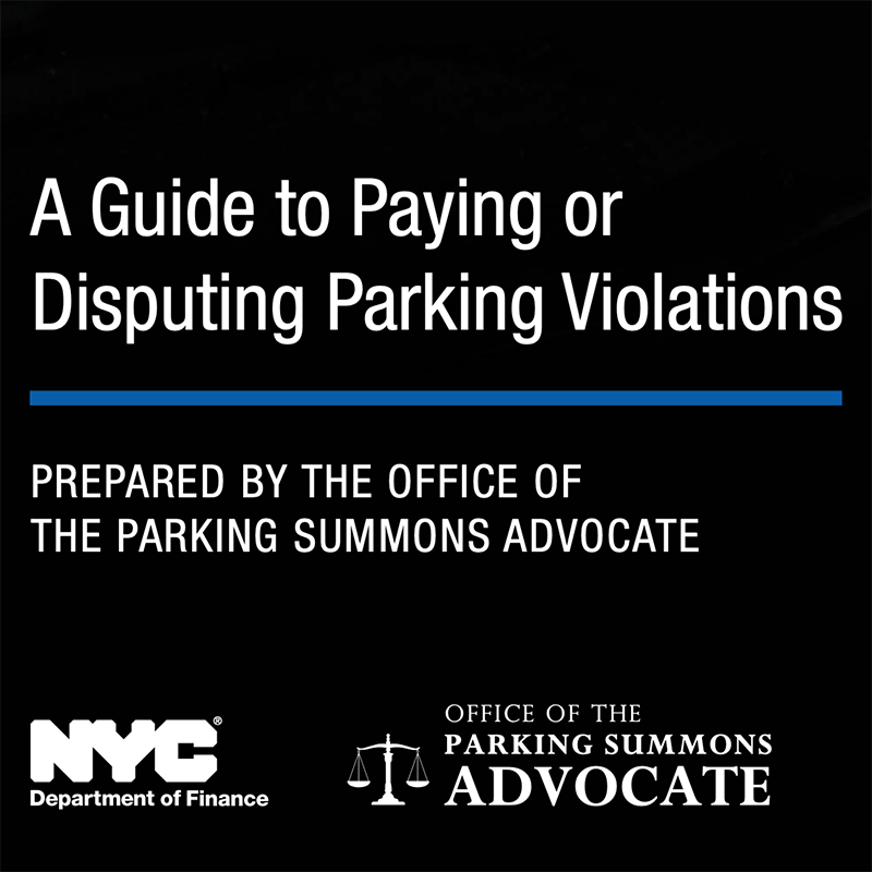 A Guide to Paying or Disputing Parking Violations