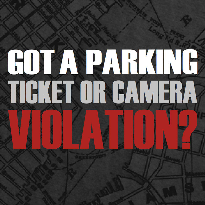 Got a Ticket or Camera Violation Brochure
