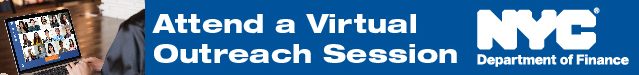 Banner saying: Attend a virtual outreach session