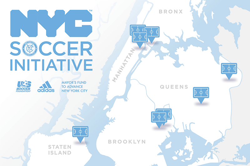 New York City Soccer Initiative Map