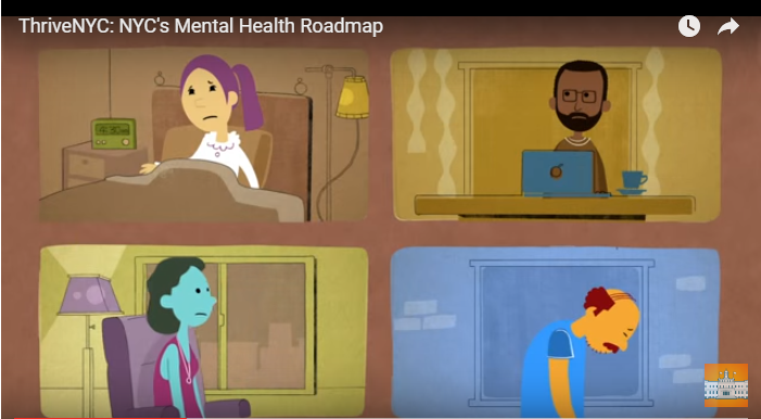 Screenshot of Thrive NYC's Mental Health Roadmap Video on Youtube