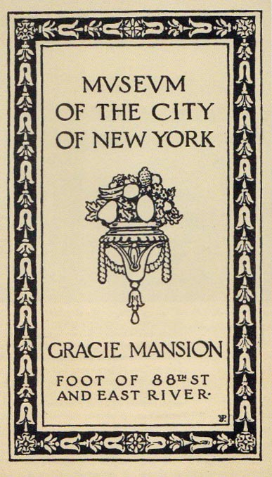 Old historical brochure about the Museum of the City of New York