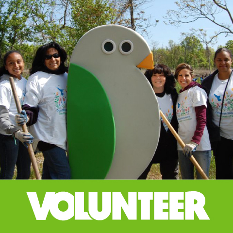 Volunteers and Birdie