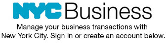 NYC Business: Manage your business transactions with New York City. Sign in or create an account below.
