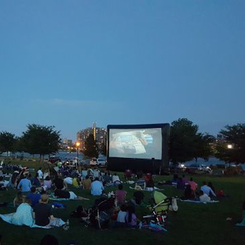 Randall S Island Outdoor Movie Night