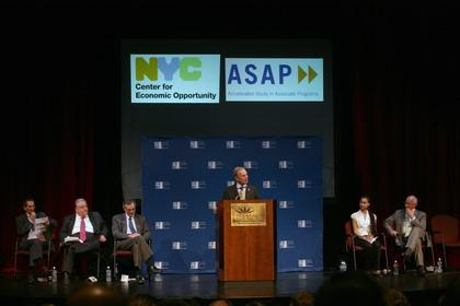 Mayor Bloomberg and CUNY Chancellor Goldstein Attend