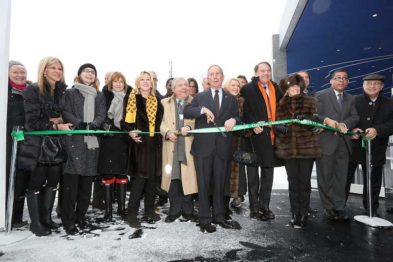 Opening of new LeFrak Center ice rink in Prospect Park, Brooklyn