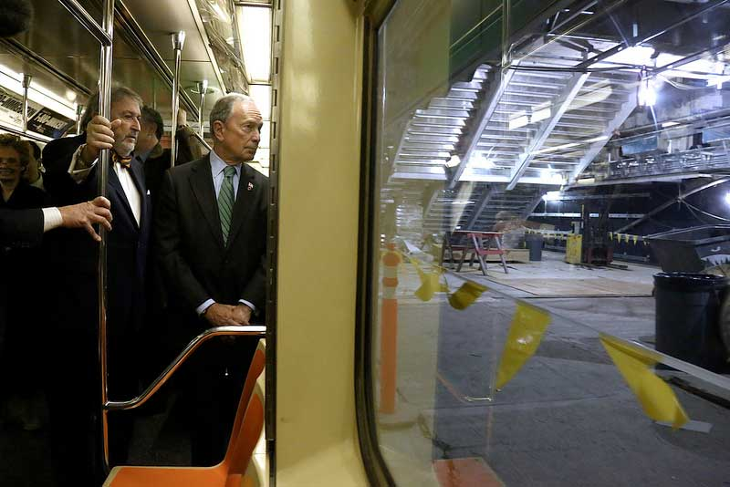 Mayor Bloomberg joins MTA officials and local leaders for the first ride on the 7 Train extension