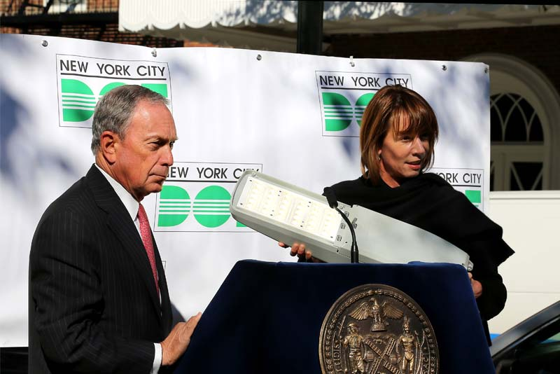 New York city five boroMayor Bloomberg announces all street lights in NYC will be replaced with ener