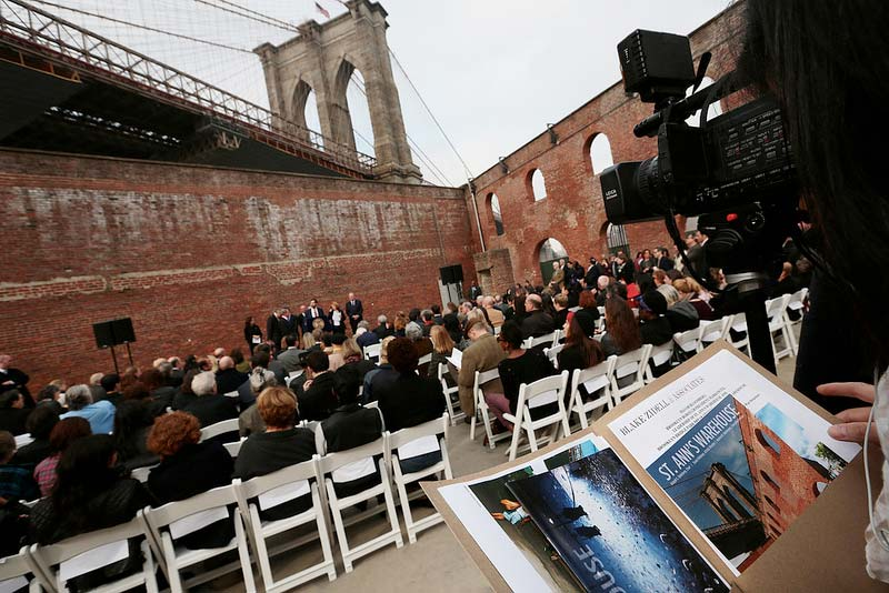 Mayor Bloomberg breaks ground on new home for St. Ann's Warehouse at Brooklyn Bridge Park