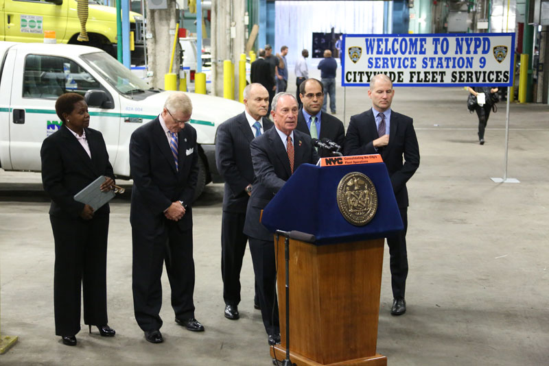 Mayor Bloomberg announces largest consolidation of city fleet operations to increase efficiency