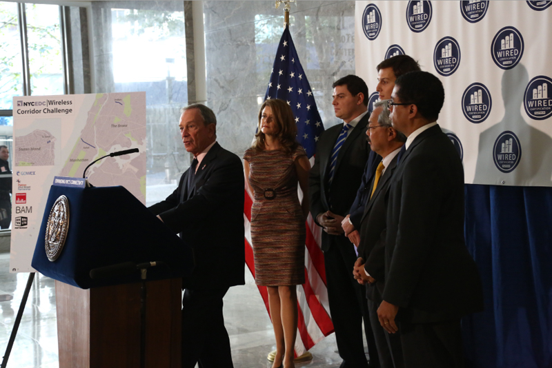 Mayor Bloomberg announces expansion of wireless and broadband connectivity