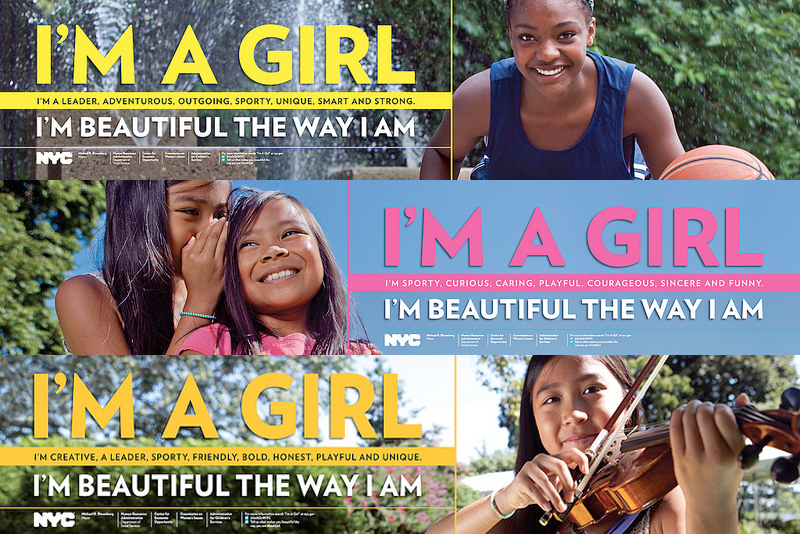 "Images from the new ""I'm a Girl"" campaign"