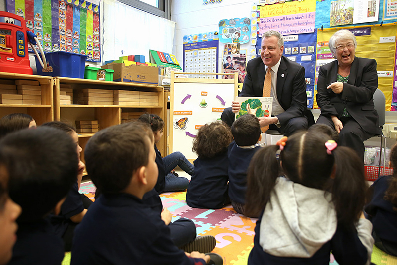 Mayor de Blasio announces more than 4,200 new full-day Pre-K seats added to public schools