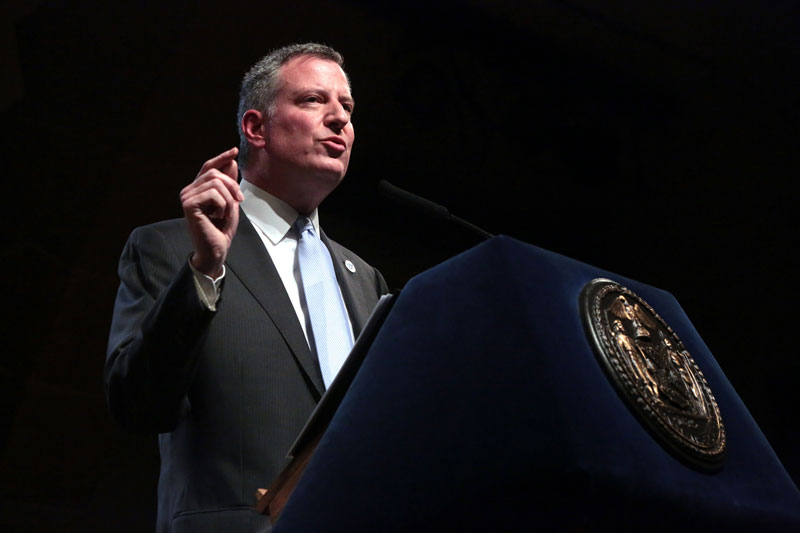 Mayor de Blasio Delivers Address On New York City's Future